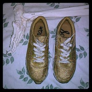 Sam Edelman Gold Sneakers